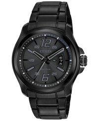 Citizen Men's Eco Drive Black Ion Plated Stainless Steel Bracelet Watch 43Mm Aw1354 82E
