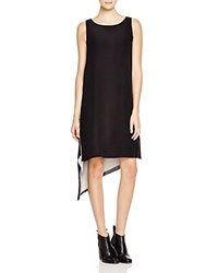 Eileen Fisher Boat Neck Tunic Dress Black White