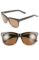 Men's Ted Baker London 56Mm Polarized Retro Sunglasses Brown Fade