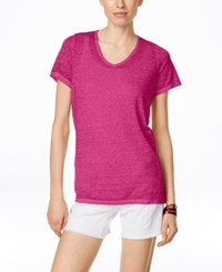 Inc International Concepts Short Sleeve Washed T Shirt Only At Macy's Intense Pink
