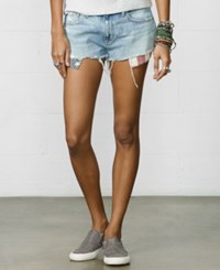 Denim And Supply Ralph Lauren Flag Pocket Denim Cutoff Shorts Vail Wash Halsey