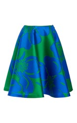 Paule Ka Flower Jacquard Full Skirt With Pockets Print