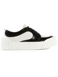 Marc By Marc Jacobs Platform Sole Paneled Lace Up Sneakers White