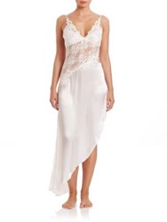 In Bloom Asymmetrical Lace Nightgown Ivory