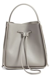 3.1 Phillip Lim 'Small Soleil' Leather Bucket Bag Grey Cement