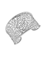 Lord And Taylor Organic Lace Circle Cuff Bracelet Silver