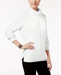 Karen Scott Ribbed Turtleneck Sweater Only At Macy's Winter White