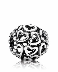 Pandora Design Pandora Charm Sterling Silver Open Your Heart Moments Collection