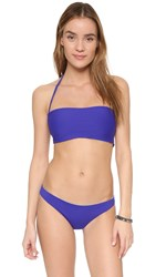 L Space Two Timer Byrdie Reversible Bandeau Sapphire