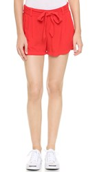 Splendid Rayon Voile Shorts Fiery Red