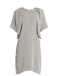 Rachel Comey Striped Oversized Dress Black White