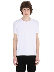 Jil Sander Round Neck Stretch Cotton T Shirt