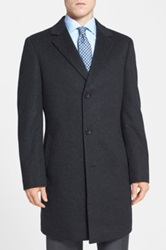 Nordstrom 'Sydney' Wool And Cashmere Topcoat Gray