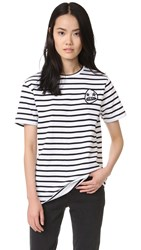 Etre Cecile Starry Eye Badge T Shirt Breton Stripe
