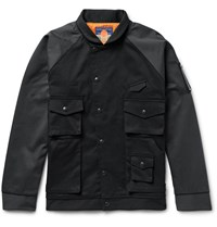 Blackmeans Two Tone Cotton Twill Bomber Jacket Black