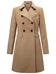 Miss Selfridge Double Breasted Coat Camel