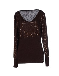 Roccobarocco Sweaters Dark Brown
