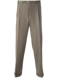 Canali Classic Trousers Brown