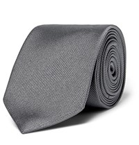 Dolce And Gabbana 6Cm Martini Silk Faille Tie Gray