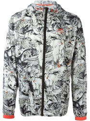 Puma Animal Print Windbreaker Jacket Grey