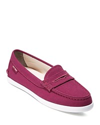 Cole Haan Pinch Canvas Loafers Cabernet