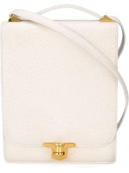 Herma S Vintage 'Chantilly' Shoulder Bag White