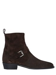 The Kooples Suede Leather Classic Buckled Boots