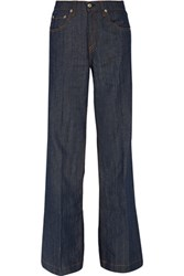 Rag And Bone Mid Rise Flared Jeans Dark Denim