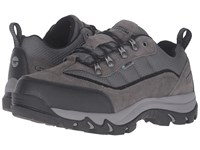 Hi Tec Skamania Low Waterproof Dark Charcoal Black Grey Men's Shoes Brown