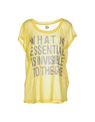 Amy Gee Topwear T Shirts Women Yellow