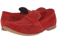 Stacy Adams Florian Red Suede Men's Slip On Shoes