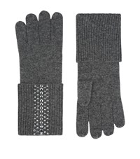 William Sharp Faded Crystal Embellished Gloves Female