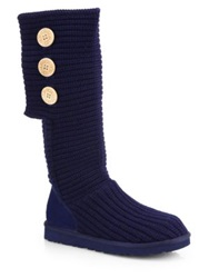 Ugg Classic Cardy Knit Knee High Boots Navy