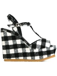 Castaner 'Urinis Plaid' Wedge Sandals Black
