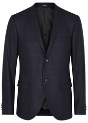 Tiger Of Sweden Jil Navy Checked Flannel Blazer