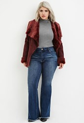 Forever 21 Plus Size Frayed Flare Jeans Denim