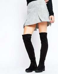 Truffle Collection Kiley Over The Knee Boot Black Micro