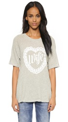 Wildfox Couture Wife T Shirt Heather Grey