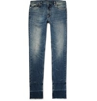 Maison Martin Margiela Skinny Fit Distressed Stretch Denim Jeans Mid Denim