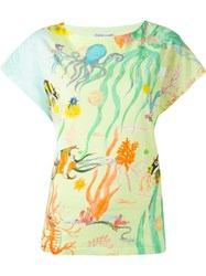 Tsumori Chisato Sea Life Print T Shirt Yellow And Orange