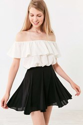 Kimchi And Blue Fiona Flirty Mini Circle Skirt Black