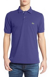 Lacoste Men's 'L1212' Pique Polo Periwinkle Purple