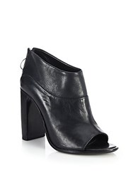 Rag And Bone Liam Open Toe Leather Booties Black