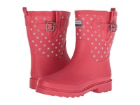 Chooka Flash Dot Mid Rain Boot Red Women's Rain Boots