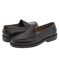 Nunn Bush Lincoln Penny Loafer Burgundy Polished Leather Men's Slip On Dress Shoes