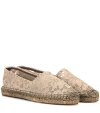 Dolce And Gabbana Lace Espadrilles Beige