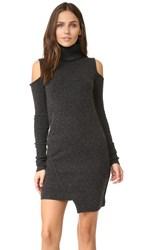 Pam And Gela Cold Shoulder Dress Charcoal