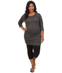 Soybu Plus Size Lynn Tunic Black Women's Blouse