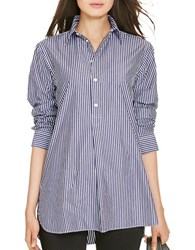 Polo Ralph Lauren Striped Cotton Tunic Navy