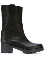 P.A.R.O.S.H. Ridged Sole And Heel Boots Black